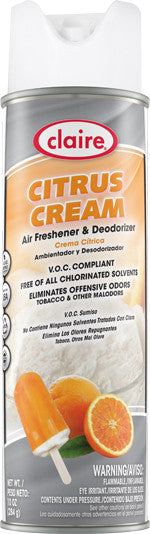 Claire Air Freshener & Deodorizer Citrus Cream 20oz Item # 168 - Brilliant Vacuum