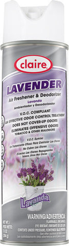 Claire Air Freshener & Deodorizer Lavender 20oz Item # 191 Case of 12 - Brilliant Vacuum
