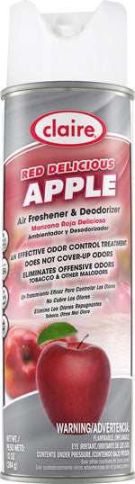 Claire Air Freshener & Deodorizer Red Delicious Apple 20oz Item # 192 Case of 12 - Brilliant Vacuum