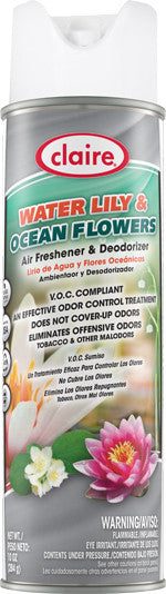 Claire Air Freshener & Deodorizer Water Lily & Ocean Flowers 20oz Item # 193 Case of 12 - Brilliant Vacuum