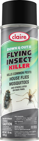 Claire Down & Out II Flying Insect Killer 20oz Item # 261 Case of 12 - Brilliant Vacuum