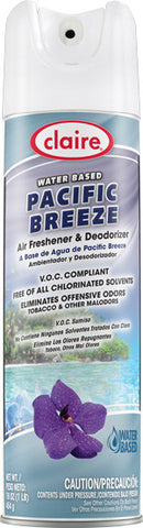 Claire Air Freshener & Deodorizer Pacific Breeze 20oz Item # 342 Case of 12 - Brilliant Vacuum