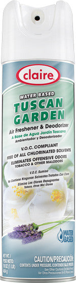 Claire Air Freshener & Deodorizer Tuscan Garden 20oz Item # 345 Case of 12 - Brilliant Vacuum
