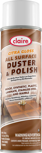 Claire Citra Gloss All Surface Duster & Polish 20oz Item # 814 - Brilliant Vacuum