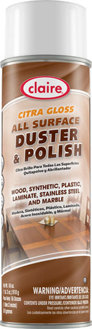 Claire Citra Gloss All Surface Duster & Polish 20oz Item # 814 Case of 12 - Brilliant Vacuum