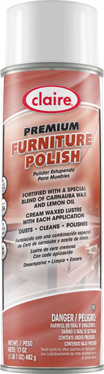 Claire Gleme Premium Furniture Polish 20oz Item # 818 Case of 12 - Brilliant Vacuum