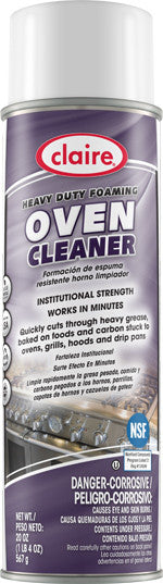 Claire Heavy Duty Foaming Oven Cleaner 20oz Item # 824 Case of 12 - Brilliant Vacuum