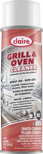 Claire Grill & Oven Cleaner 20oz Item # 826 Case of 12 - Brilliant Vacuum