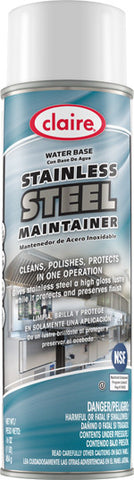 Claire Stainless Steel Maintainer Water Based 20oz Item # 844 Case of 12 - Brilliant Vacuum
