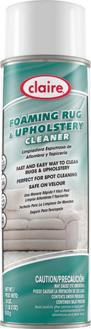 Claire Foaming Rug & Upholstery Cleaner 20oz Item # 869 Case of 12 - Brilliant Vacuum
