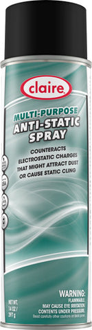 Claire Multi Purpose Anti-Static Spray 20oz Item # 955 Case of 12 - Brilliant Vacuum