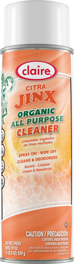 Claire Citra Jinx Organic All Purpose Cleaner 20oz Item # 985 Case of 12 - Brilliant Vacuum