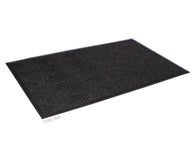 Super Soaker Diamond Floor Mat With Rubber Edge 3' x 10' Charcoal