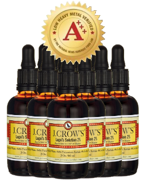 J.CROW'S® Lugol's Solution of Iodine 2% 2 oz Professional Pack (12 bottles) $113.88