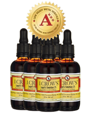 J.CROW'S® Lugol's Solution of Iodine 2% 2 oz Six Pack (6 bottles) $71.94 ($11.99 ea. bottle)