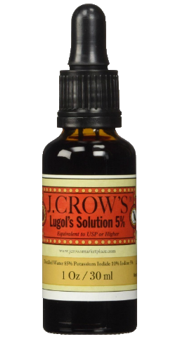J.CROW'S® Lugol's Solution of Iodine 5% 1 oz Bottle