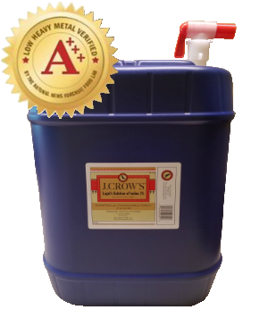 J.CROW'S® Lugol's Solution of Iodine 2% 5 Gallon Bulk Drums with Spigots + Buy  More and Save More