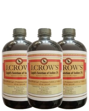 J.CROW'S® Lugol's Solution of Iodine 2% 16 oz Three Pack (3 bottles) $179.85 ($59.95 ea. bottle)