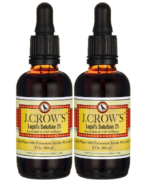 J.CROW'S® Lugol's Solution of Iodine 2% 2 oz Twin Pack (2 bottles) $24.98 ($12.49 ea. bottle)
