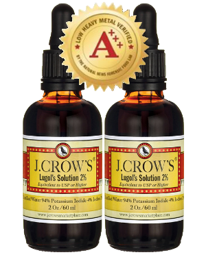 J.CROW'S® Lugol's Solution of Iodine 2% 2 oz Twin Pack (2 bottles) $25.98 ($12.99 ea. bottle)