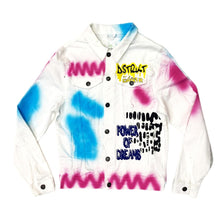 8TH DSTRKT Men's Neon Spray Doodle Graffiti Jacket - Village Mart