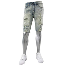 Waimea Jeans - Antique bleach ripped and repaired denim shorts - Village Mart