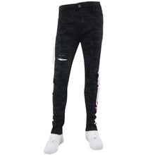 Waimea Jeans - Painted side stripe track denim - Village Mart