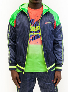 STAPLE Dazzle Zip Nylon Jacket - Village Mart