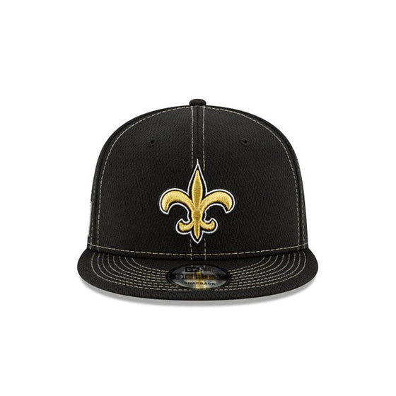 NEW ERA NEW ORLEANS SAINTS OFFICIAL NFL SIDELINE ROAD 9FIFTY SNAPBACK