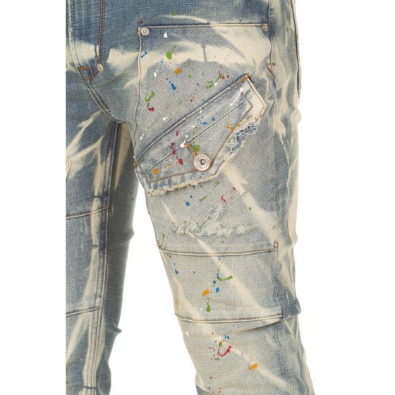 AKOO Painted Stretch Jean - Village Mart
