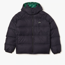 LACOSTE Men's Lacoste LIVE Print Lining Short Reversible Quilted Jacket - Village Mart