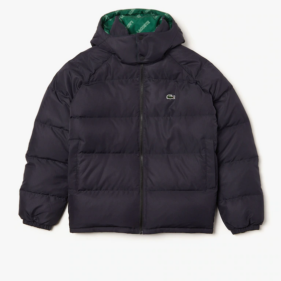 LACOSTE Men's Lacoste LIVE Print Lining Short Reversible Quilted Jacket
