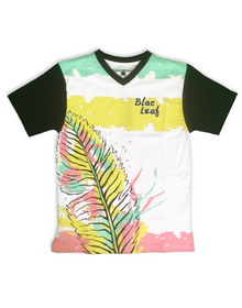 BLAC LEAF Abstract Leaf Tee