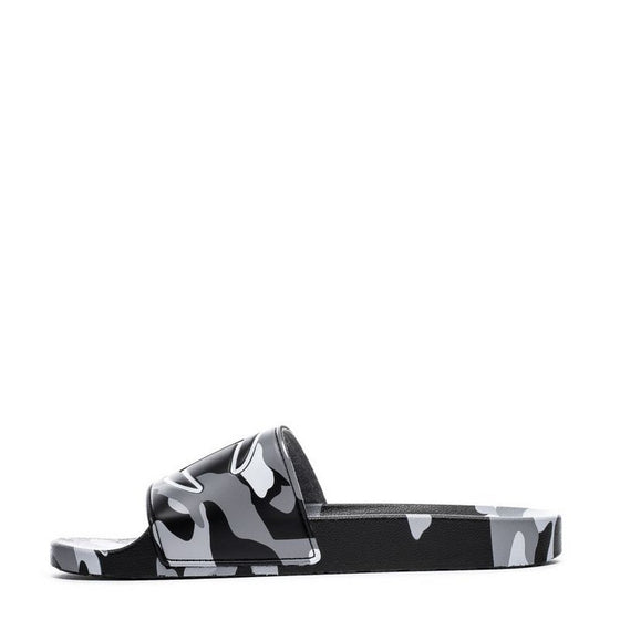 CHAMPION FTWR Men's IPO Camo Black White Slides-CP100460M