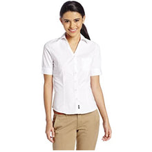 FRENCH TOAST Uniforms Juniors Short Sleeve Stretch Poplin Blouse