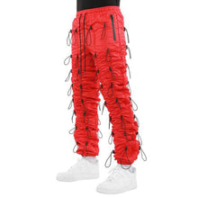 EPTM Men's Red Accordion Pants