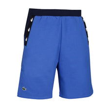 LACOSTE Color Block Crocodile Striped Fleece Shorts QBN