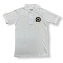 M.A.H.S. Kids Unisex White School Polo