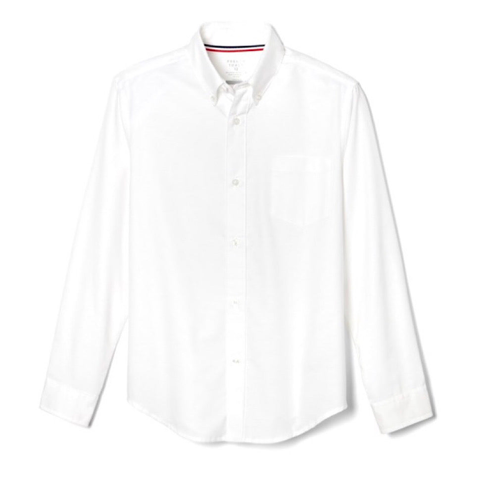Adult Long Sleeve Oxford Shirt