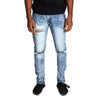 KDNK Men's Destroyed Knee Ankle Zip Jeans - KND4170 - Village Mart