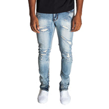 KDNK Men's All Over Stitch Ankle Zip Jeans - KND4193 - Village Mart