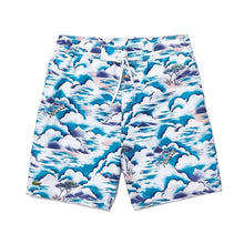 "LACOSTE 8"" In All Over Hawaiian Print Men's Shorts - Village Mart"