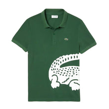 LACOSTE Men's Oversized Crocodile Print Polo Shirt