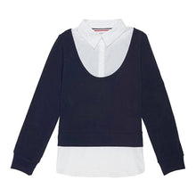 FRENCH TOAST Girls Long Sleeve 2-fer with Rib School Uniform Polo Shirt