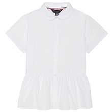 FRENCH TOAST Girls Peplum Blouse Short-Sleeve Button Down Shirt