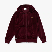 LACOSTE Men's LIVE Signature Hooded Velvet Zip Sweatshirt - Village Mart