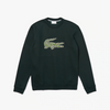 LACOSTE Men's Crewneck Croco Magic Logo Fleece Sweatshirt