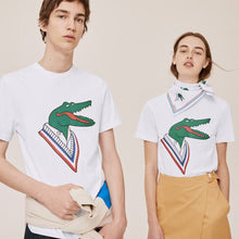 LACOSTE Unisex Large Graphic Crocodile Print T-Shirt - Village Mart