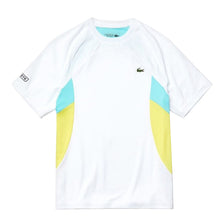 LACOSTE Men's Short Sleeve Color Block Performance Tee YGZ