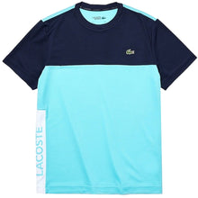 LACOSTE Men's Short Sleeve Performance Colour Block Tee
